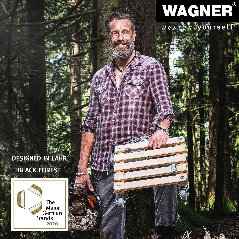 20103201 antacite I Portata 50 kg I Made in EU Wagner Carrello per Piante Serie K /Ø 34 x 9 cm I Sottovaso e Carrello per Fiori per Interni ed Esterni I Portavaso in plastica