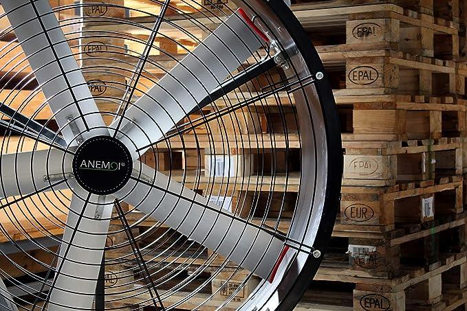 Anemoi AIRGO Ventilador Industrial móvil, Ventilador Industrial portátil, Ventilador Industrial de pie (90 cm): Amazon.es: Hogar