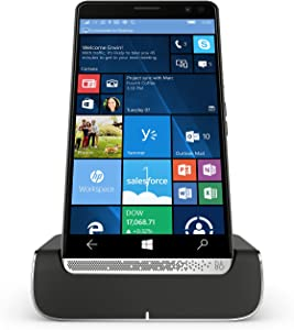 HP Elite X3 Y1M46EA#ABU 64GB eMMC Dual-SIM (GSM Only, No CDMA) Factory Unlocked 4G/LTE Smartphone with Desk Dock (Graphite) - International Version with No Warranty