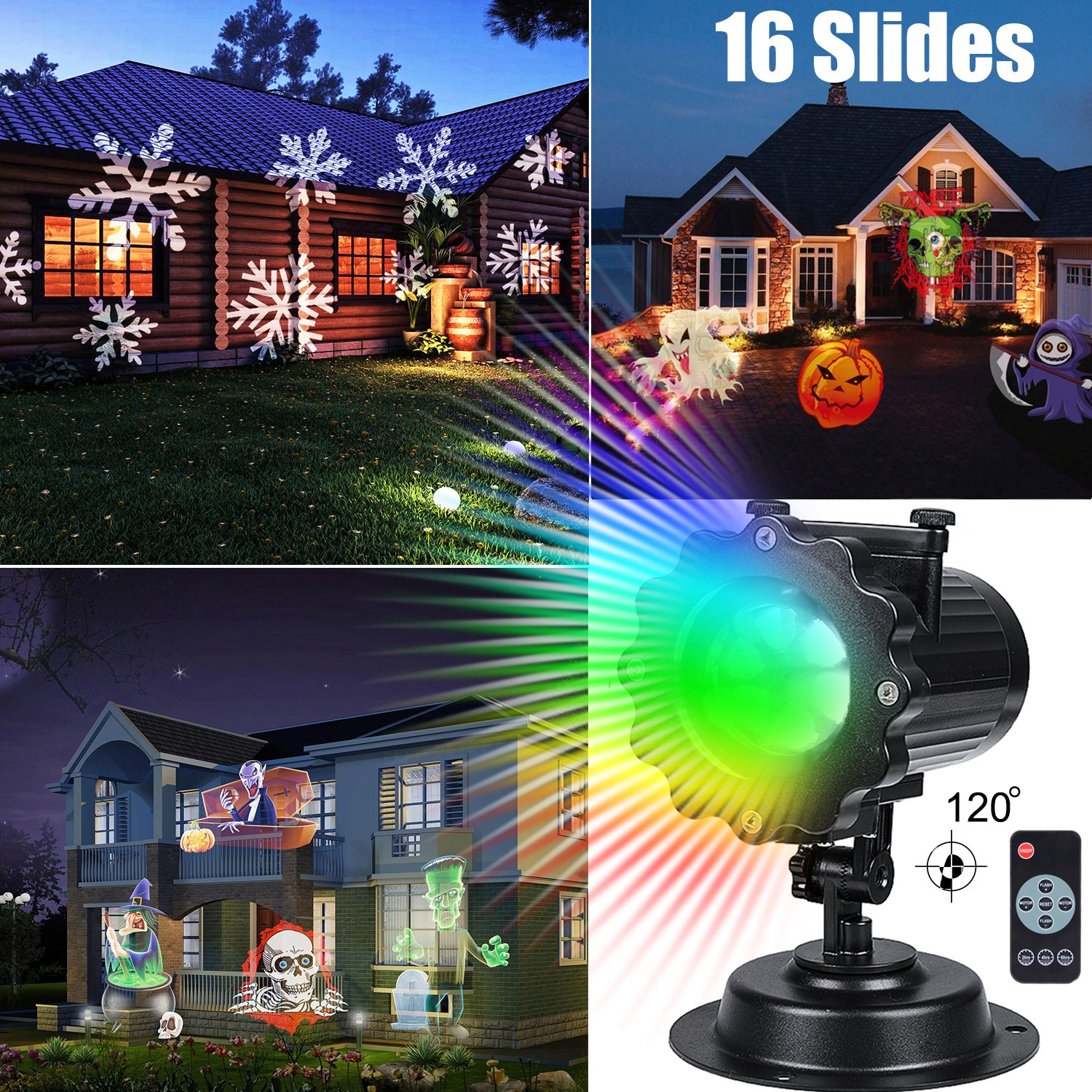 Laser Light Show Projector w/Remote Control Outdoor Party Christmas ...