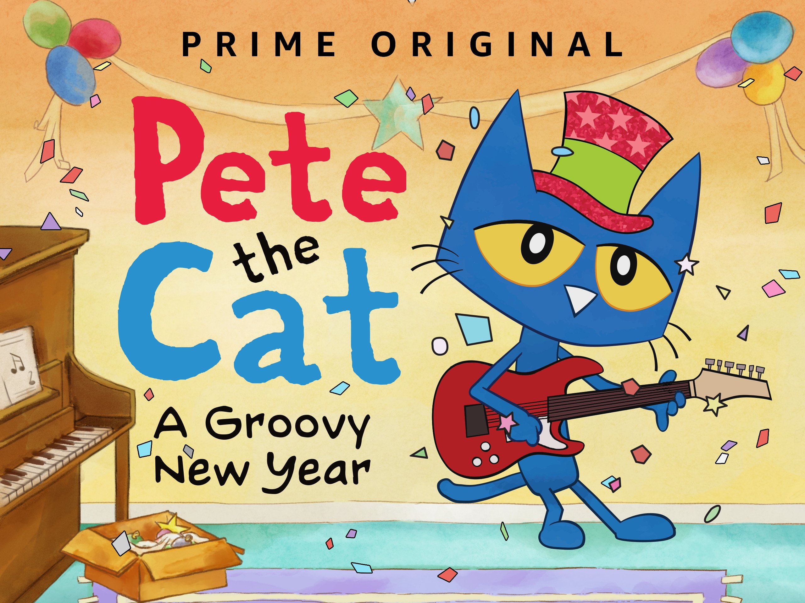 Amazon.com  Watch Pete the Cat  A Groovy New Year  b814a3e14b