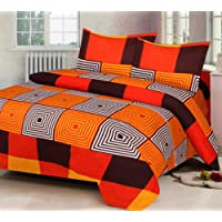 Amayra Home 180 TC Microfibre Double 3D Luxury Bedsheet with 2 Pillow Covers, Multicolour