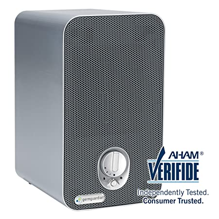 Germ Guardian Ac4100 3 In 1 Desktop Air Purifier, Hepa Filter, Uvc Sanitizer, Home Air Cleaner Traps Allergens For Smoke, Odors, Mold, Dust, Germs, Smokers, Pet Dander, Germ... by Guardian Technologies