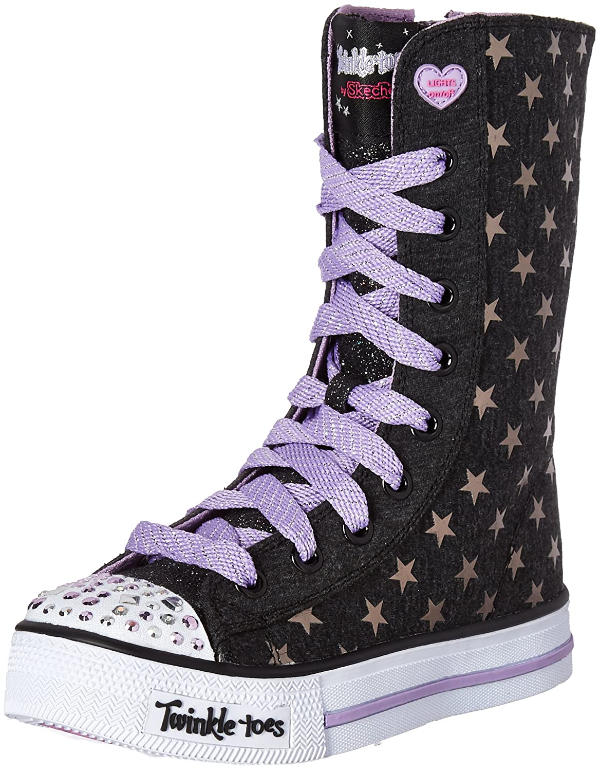 Skechers Kids Twinkle Toes Shuffles Tall High Top Light-Up Sneaker Twinkle Toes - Shuffles - K
