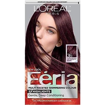 Amazon.com : L\'Oréal Paris Feria Permanent Hair Color, 36 Chocolate ...