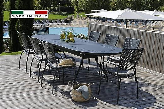 Tavolo Da Giardino Allungabile Usato.Rd Italia Set Tavolo Reef Xl Allungabile 220 300x110 Cm Ovale E 6