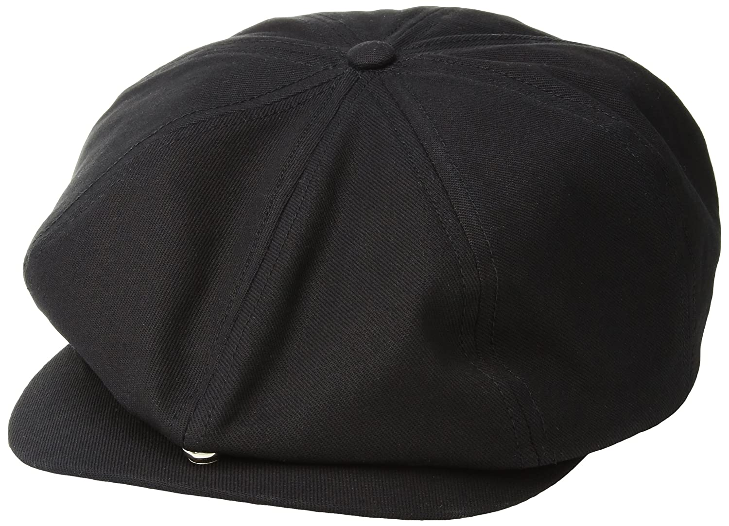 0dac5bb1 Amazon.com: Brixton Men's Brood Adjustable Newsboy SNAP HAT, Black, O/S:  Clothing