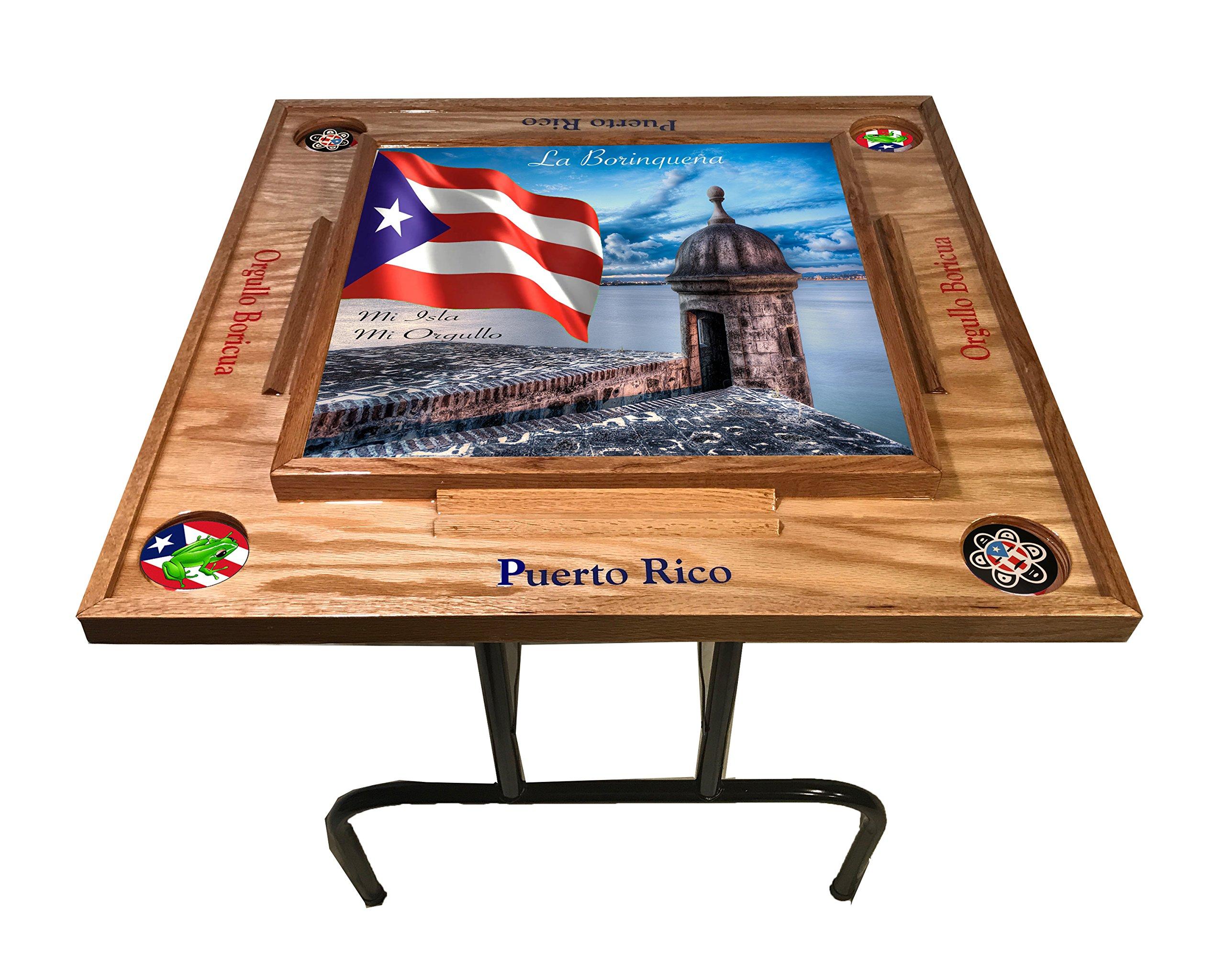 Puerto Rico Domino Table with the Morro (Natura)