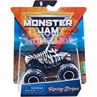 Monster Jam, Official Racing Stripes Monster Truck, Die-Cast Vehicle, Crazy Creatures Series, 1:64 Scale