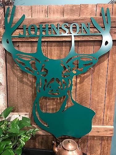 Amazon.com: Metal Deer Last Name Door Hanger - 24\