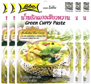 Lobo Thai Green Curry Paste - No MSG, No Preservatives, No Artificial Colors (