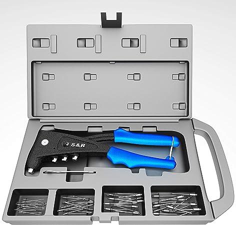 Work avec it Pince /à riveter RIVETEUSE /à Assortiment de 100/rivets