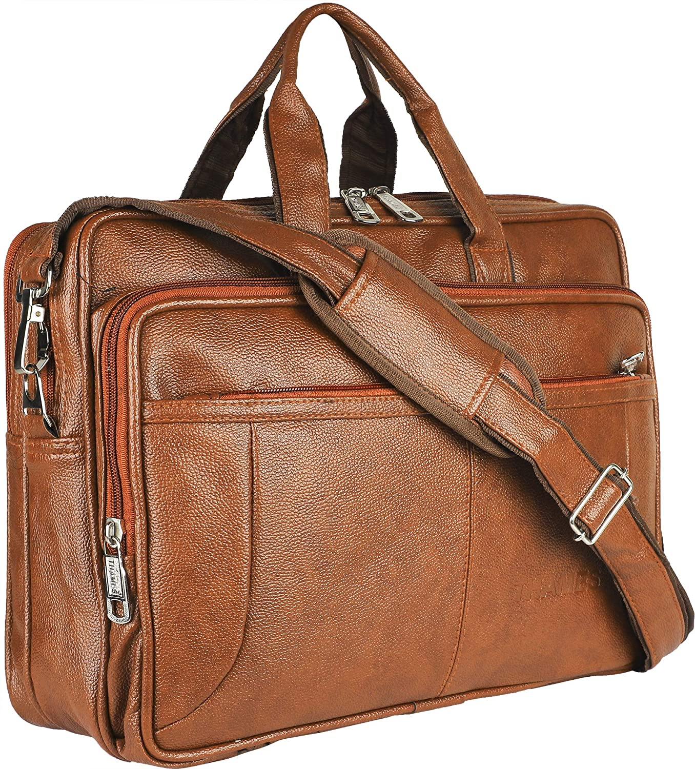 Thames By Lioncrown Faux Leather 15.6 Laptop Messenger
