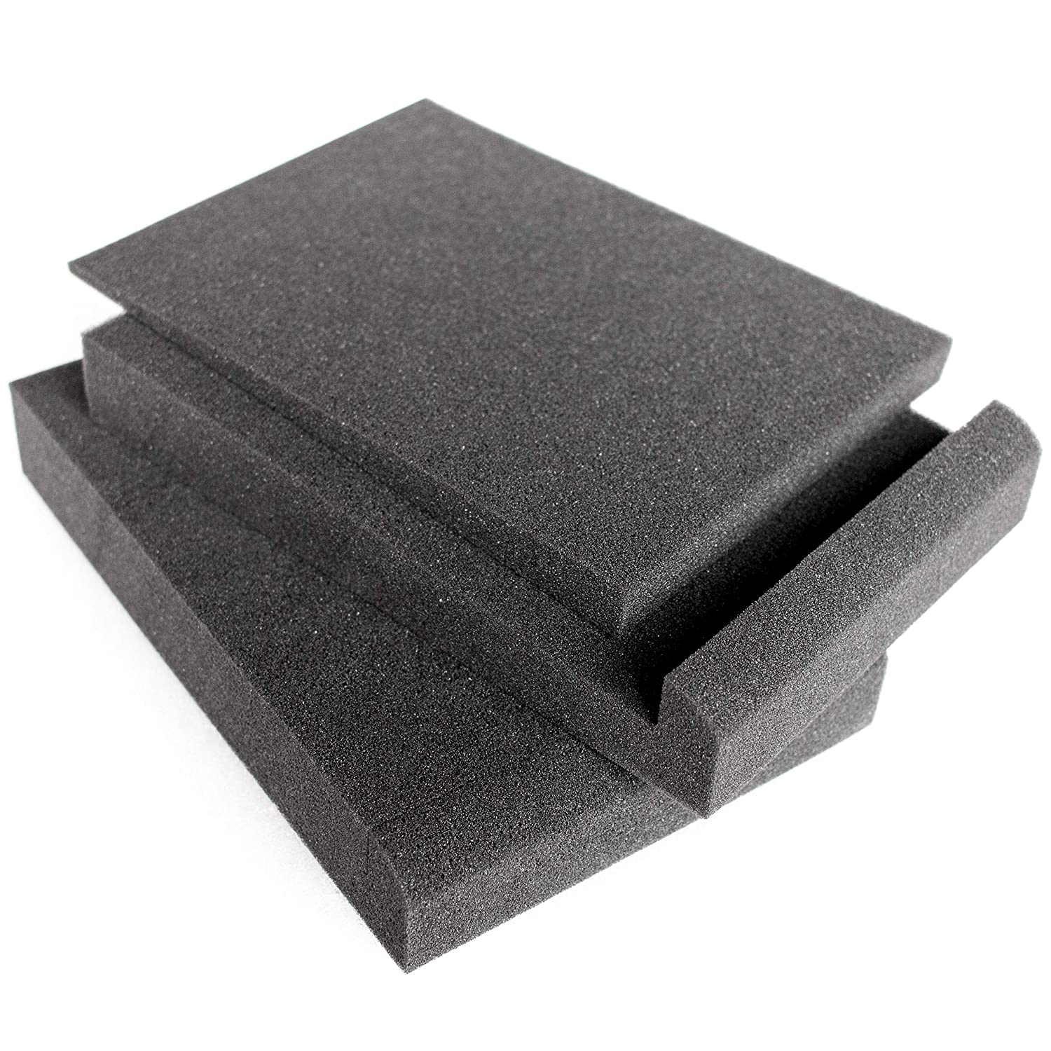 Acoustic Sponge Foam Placing on Desk or Stands as Vibration Isolator Blanc Heart Speaker Isolation Pads for 7 or 8 Inch Studio Monitor Option for 6 Available