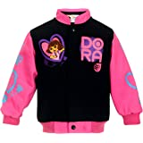 J.H. Design Girl's Dora Born to Explore Snap Up Jacket Black and Pink Jacket for Toddlers