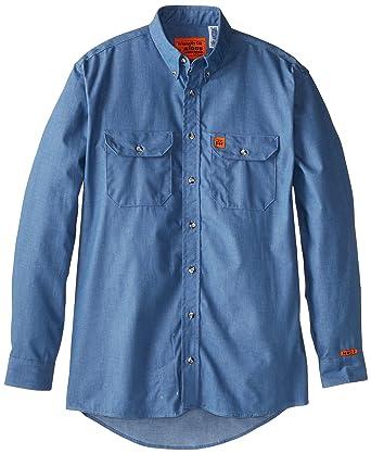 36a5c8ad19 Amazon.com  Wrangler RIGGS WORKWEAR Men s Tall Denim Shirt  Clothing