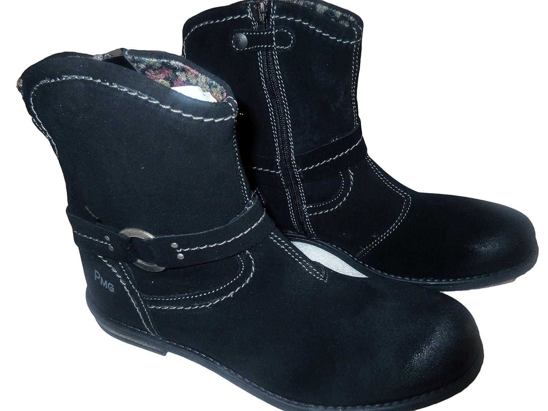 Primigi girls kid motorcycle riding black suede boot size 37 EU