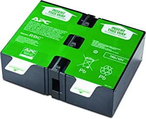 APC UPS Battery Replacement for APC UPS Model BR1000G, BX1350M, BN1350G, BR900GI, BX1000G, BX1300G, SMT750RM2U, SMT750RM2UC, SMT750RM2UNC, and Select Others (APCRBC123)