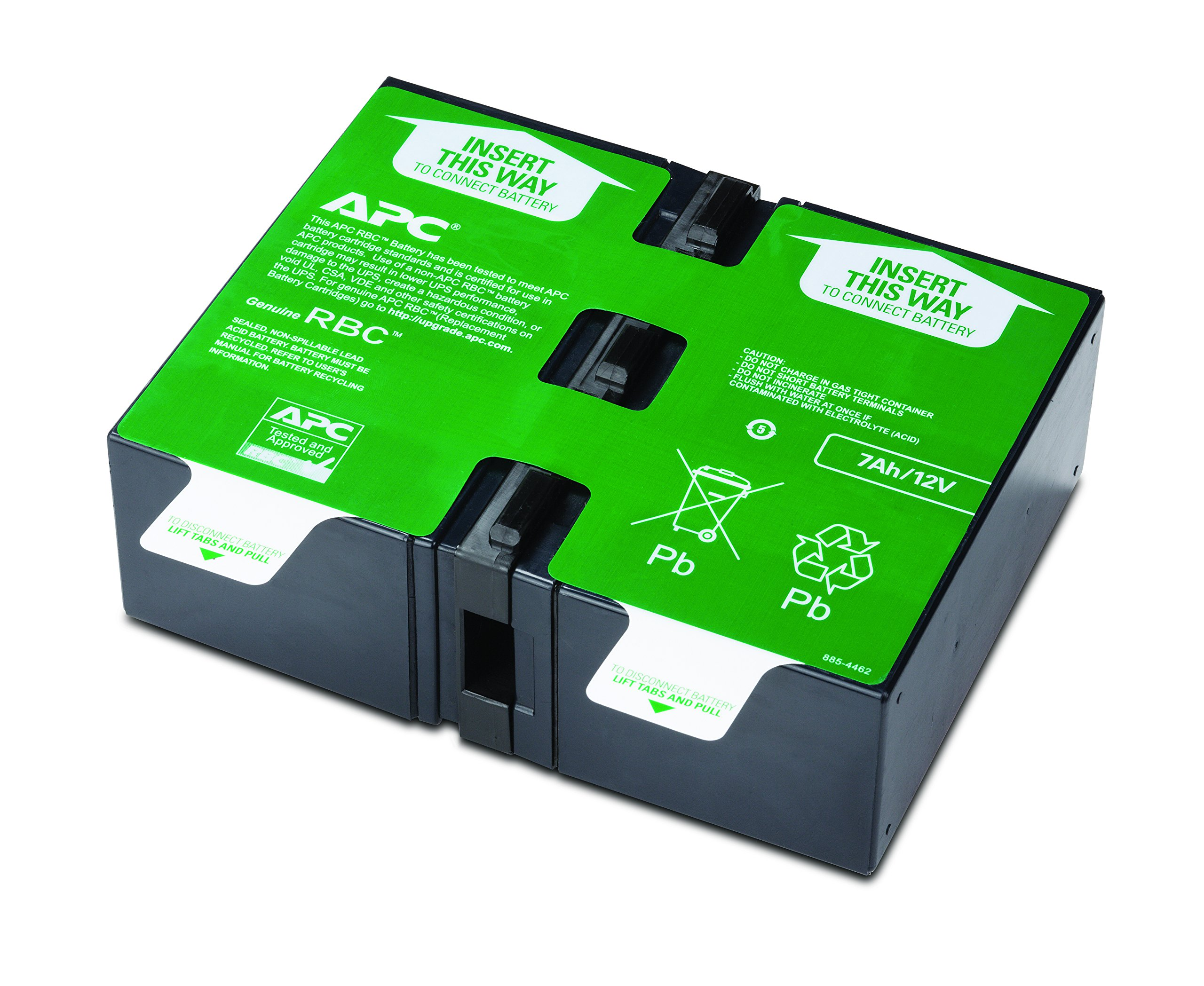 APC UPS Replacement Battery Cartridge for APC UPS Model BR1000G and select others (APCRBC123) by APC