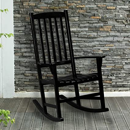 Admirable Southern Enterprises Inc Hardwood Porch Rocker Black Gmtry Best Dining Table And Chair Ideas Images Gmtryco