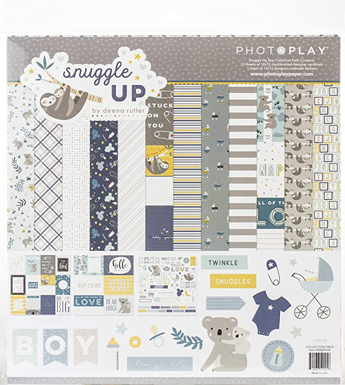 Photoplay Paper SNG9256 PhotoPlay Collection Pack 12X12-Snuggle Up Girl