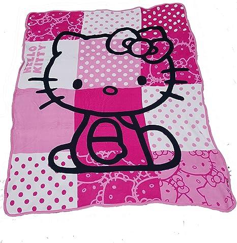 Amazon Sanrio Hello Kitty Plush Throw Blanket Pink Plush Fascinating Hello Kitty Fleece Throw Blanket