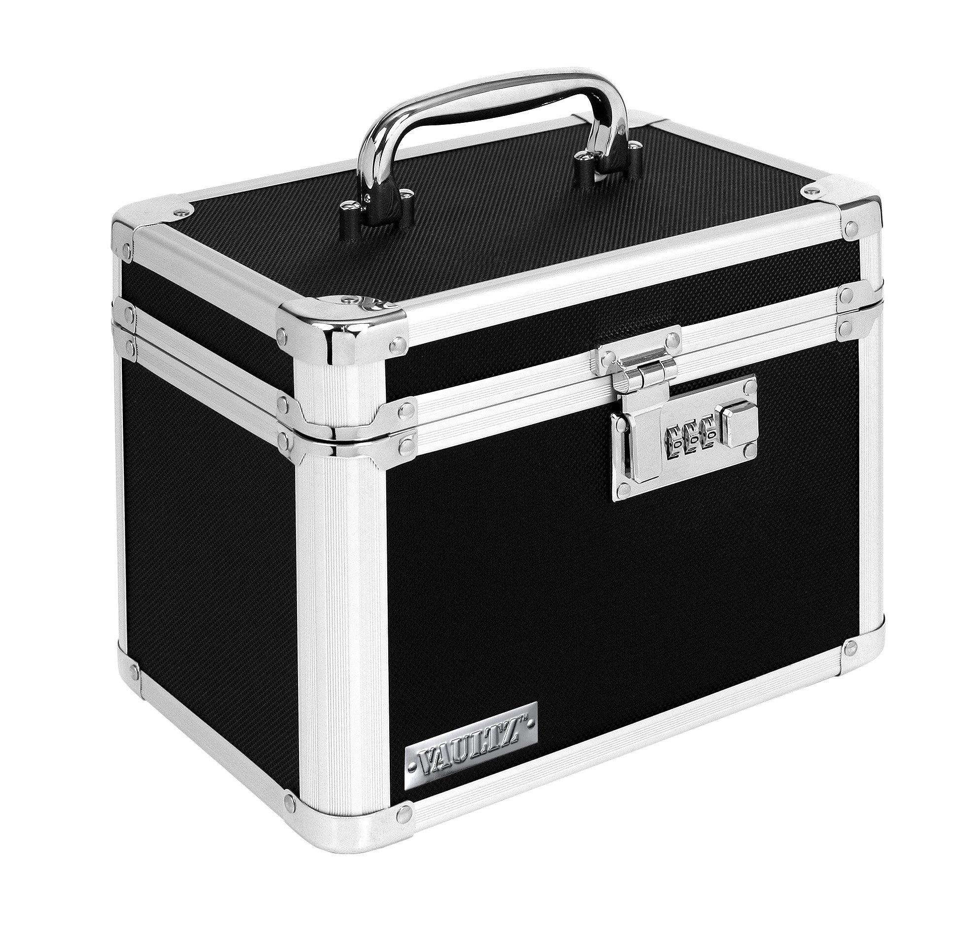Vaultz Combination Lock Box, 7.75 x 7.25 x 10 Inches, Black (VZ00102-2) by Vaultz