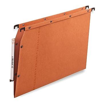 Elba 100330473 A4 Cartón Marrón, Naranja 25pieza(s) archivador colgante - Carpeta (A4, Cartón, Marrón, Naranja): Amazon.es: Oficina y papelería