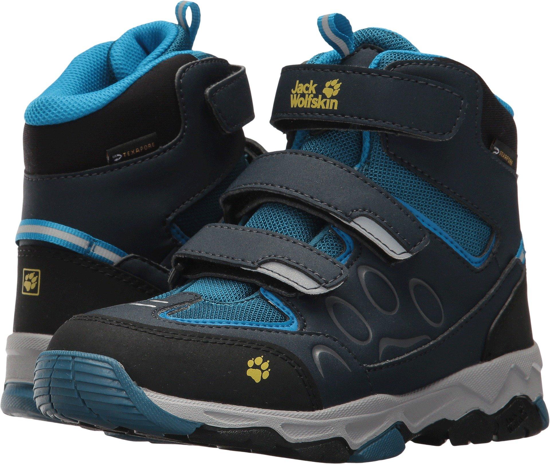 Jack Wolfskin Unisex-Kids MTN Attack 2 Texapore Mid VC K Hiking Boot, Glacier Blue, 1 M US Little Kid