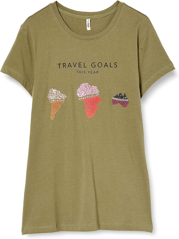 Only Onlkita Life Fit S/S World Top Box Jrs Camiseta para Mujer: Amazon.es: Ropa y accesorios