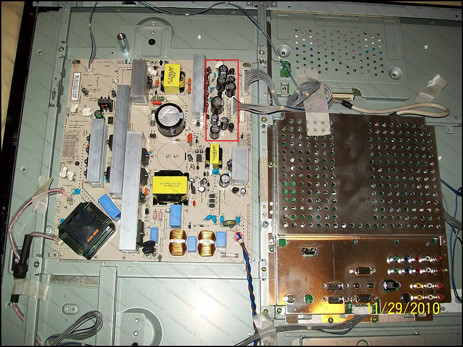 Repair Kit Lg 37lc7d Lcd Monitor Capacitors Not The As Well Samsung Tv Circuit Board Schematic Also Philips Entire Electronics