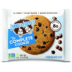 Lenny & Larry's The Complete Cookie, Chocolate Chip, Soft Baked, 8g Plant Protein, Vegan, Non-GMO 2 Ounce Cookie (Pack of 12)