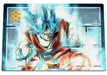 Kanto Factory- Alfombra de juegos premium de Dragon Ball Super especialmente creada para TCG DBS juegos de cartas, de alta definición Goku Super ...