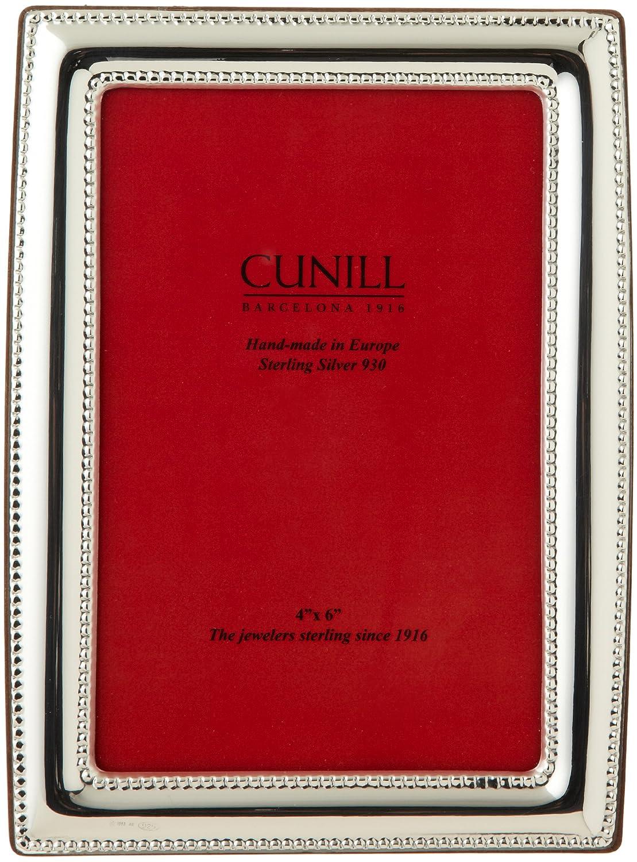 Amazon.com: Cunill Royal perlas plata de ley Convex – Marco ...