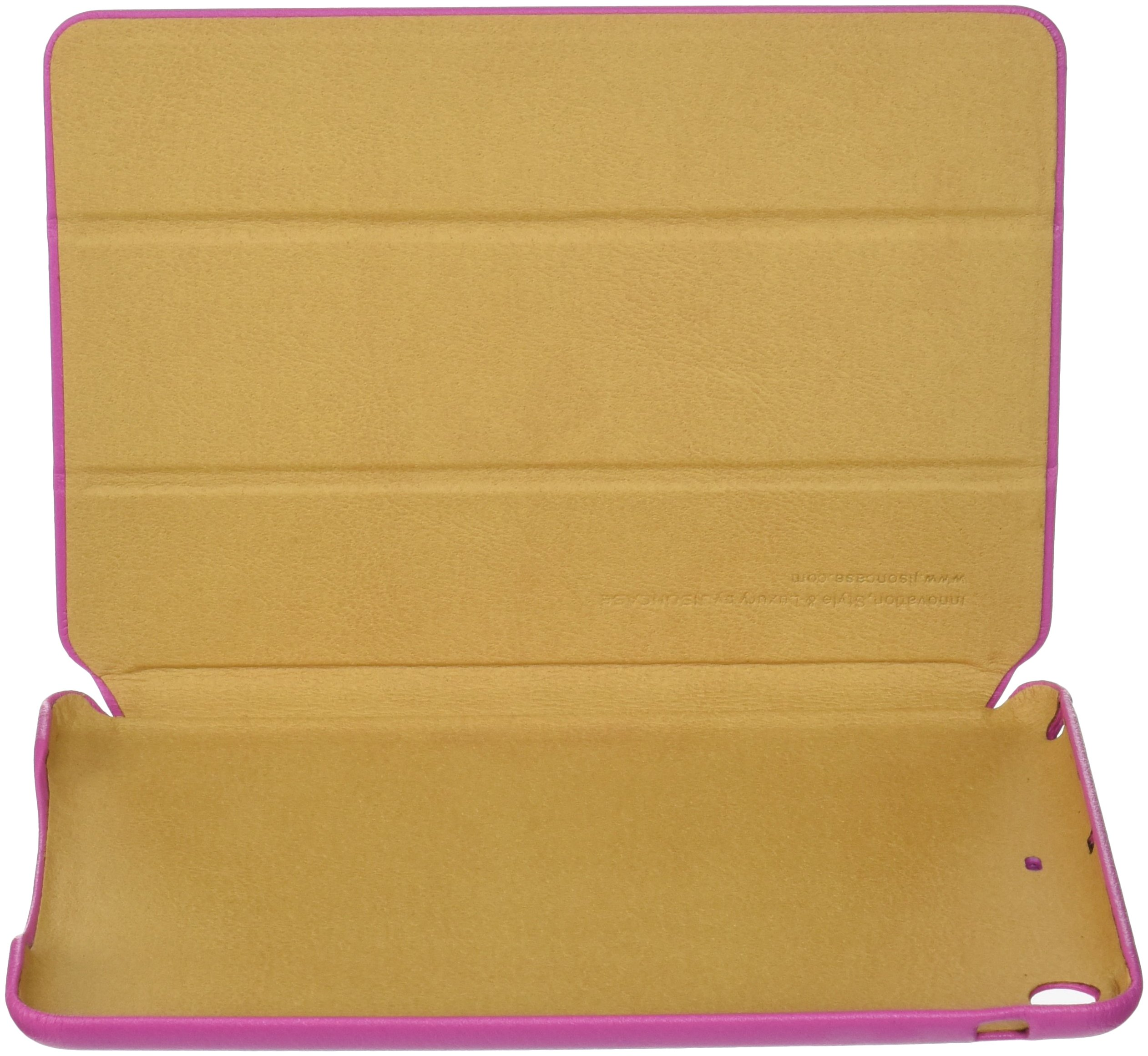 Jisoncase Classic Premium Leatherette Smart Cover Case for iPad mini JS-IM-001-Rose