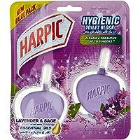 Harpic Hygenic Cageless Toilet Block Plus Lavender & Sage,2X40g
