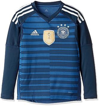 1163cda4190 adidas D04268 Children's German National Team Football Goalkeeper Home Long  Sleeve Shirt, Children's, DFB