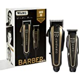 WAHL Professional 5 Star Barber Combo - Model # 8180 - Black/Brown for Men Clipper 1 Pc Kit