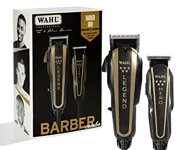 740644fe2 Amazon.com  Wahl Professional 5-Star Barber Combo  8180 Features a New Look  5-Star Legend Clipper and Hero T-Blade Trimmer  Beauty