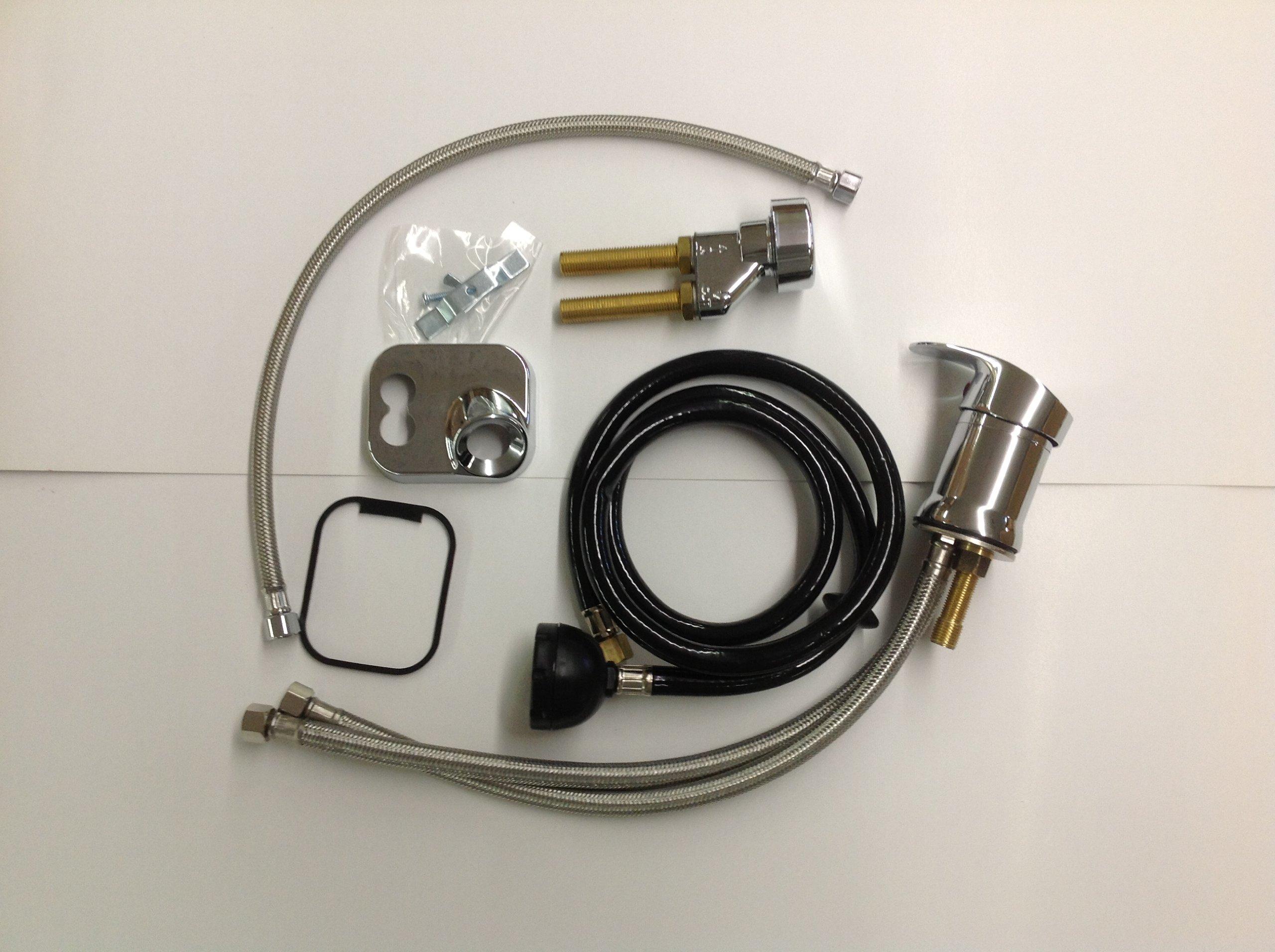 AR 550 Salon Shampoo Bowl Faucet, Sprayer & Vacuum Breaker Kit Fits Belvedere