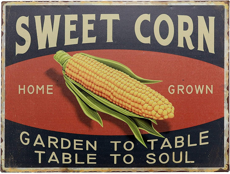 "Barnyard Designs Sweet Corn Retro Vintage Tin Bar Sign Country Home Decor 10"" x 13"""
