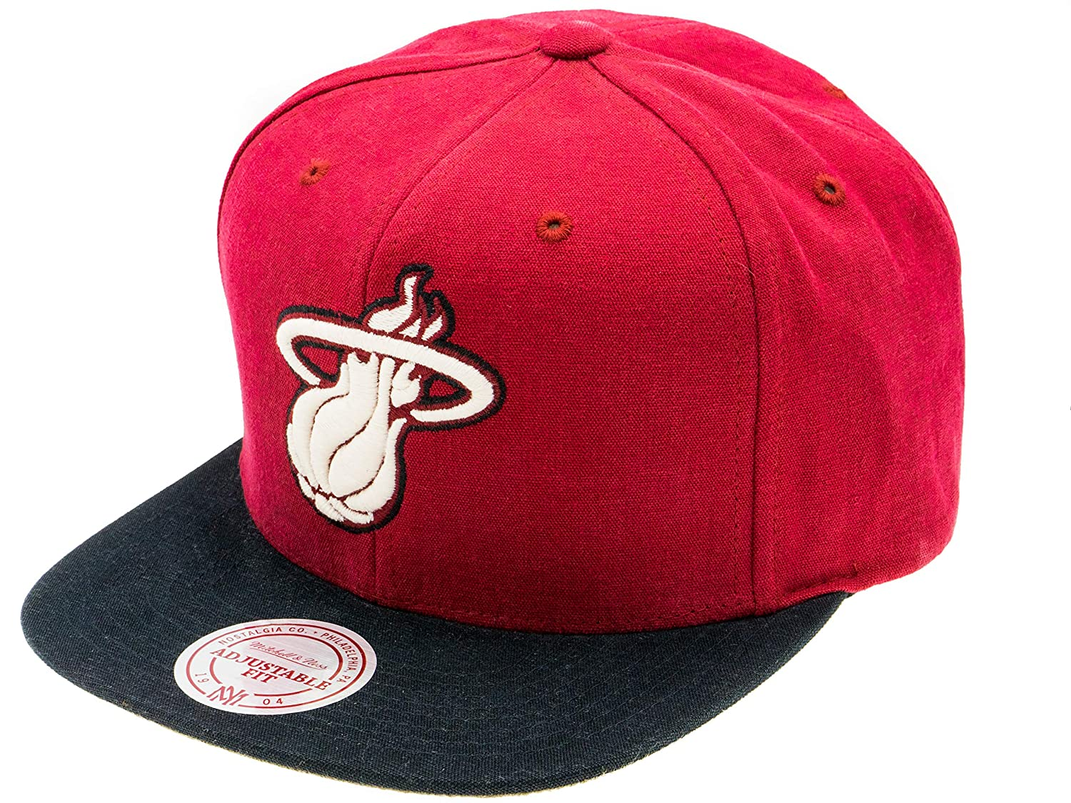 Mitchell & Ness Miami Heat NBA Gorra: Amazon.es: Deportes y aire libre