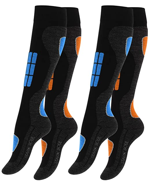 2 pares Calcetines para deportes de invierno con acolchado especial para mujer: Amazon.es: Ropa y accesorios