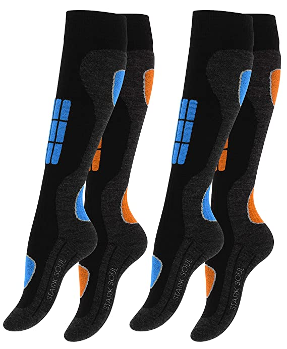 VCA 2 Paar SKI Funktionssocken, Wintersport Socken mit Spezial Polsterung