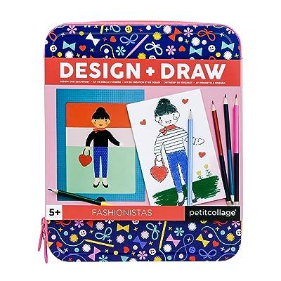 Petit Collage Fashionistas Design & Draw Travel On-The-Go Activity Set, Multi: Toys & Games