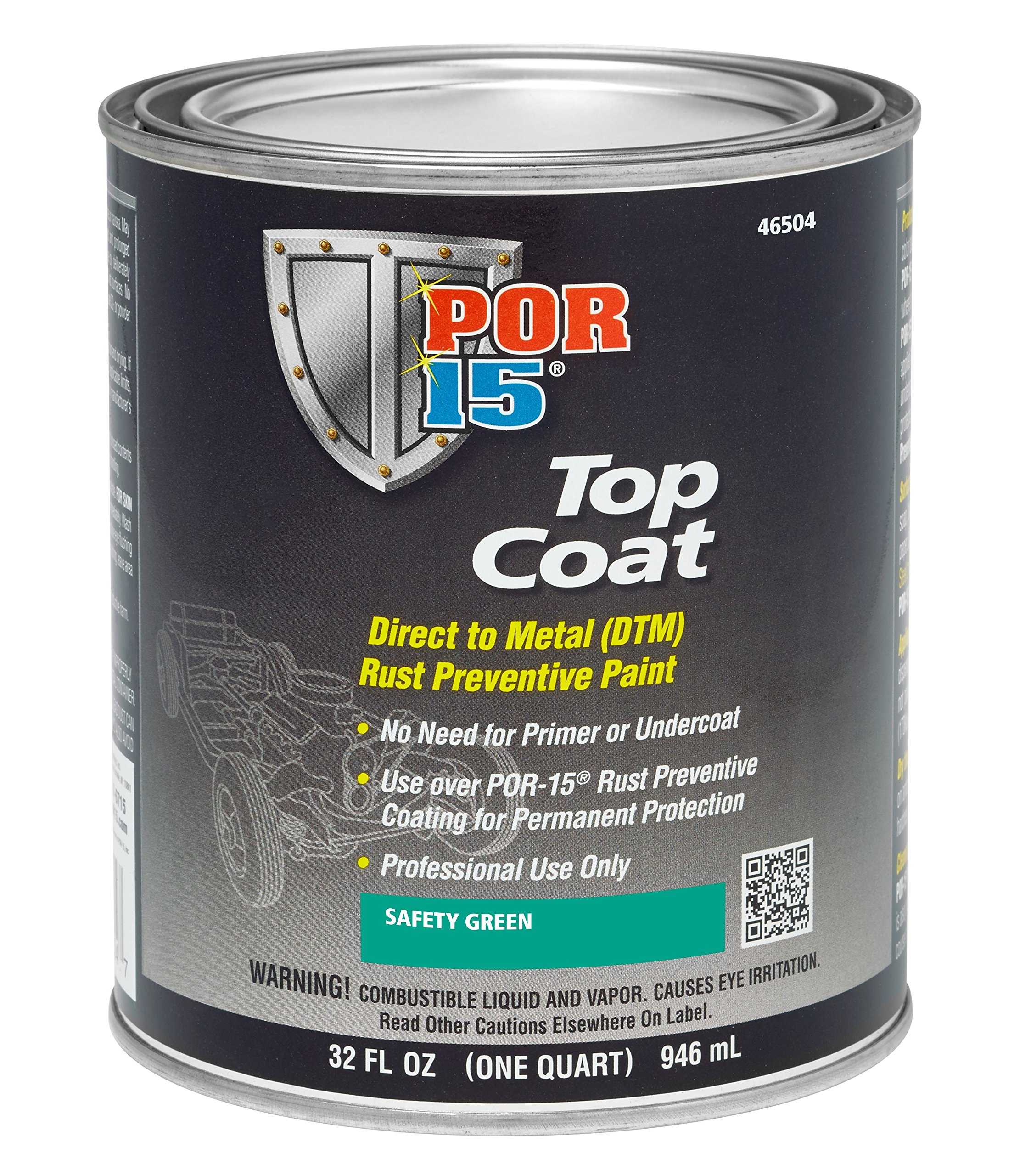 POR-15 46504 Top Coat Safety Green Paint, 32. Fluid_Ounces