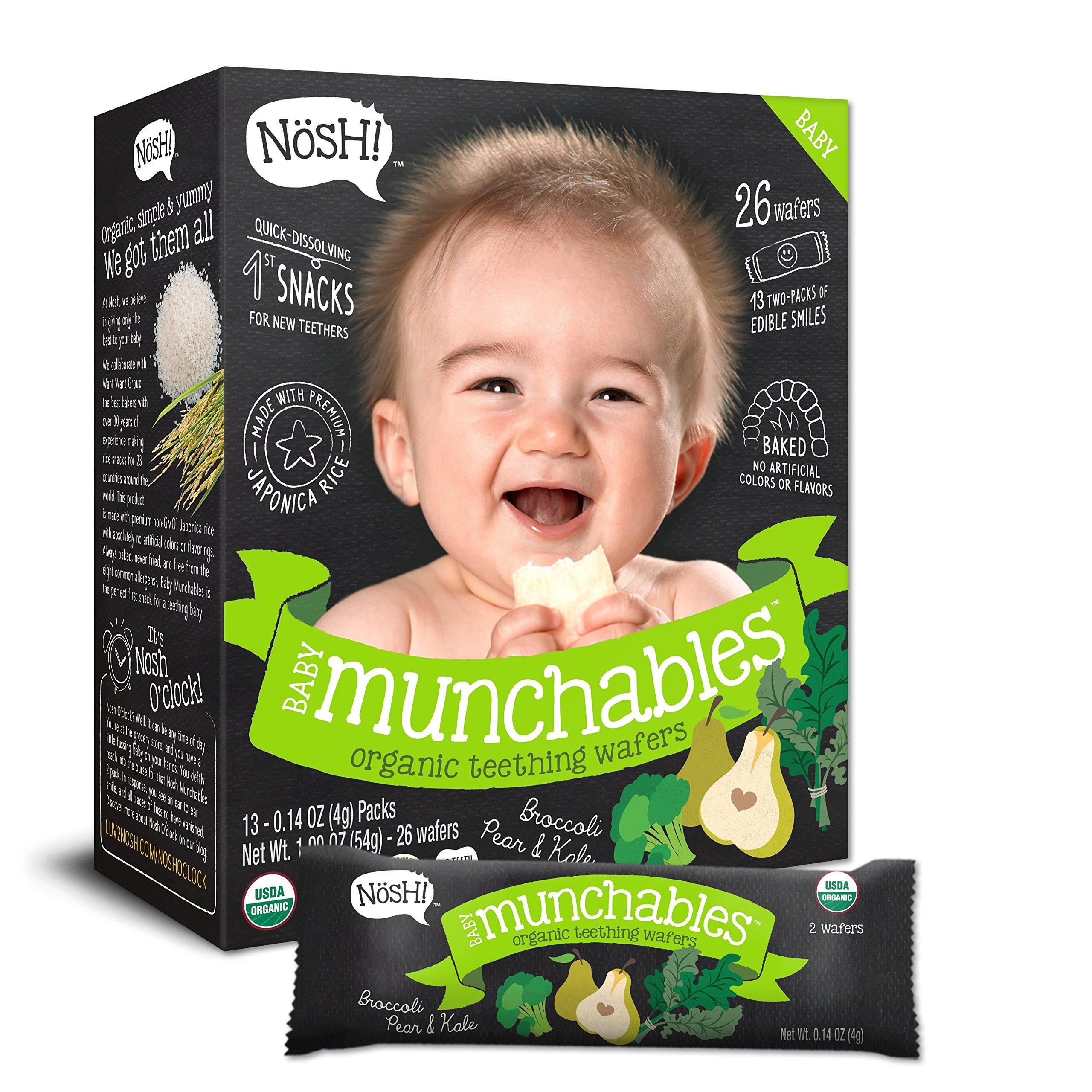 Nosh Baby Munchables Teethers Organic Rice Teething Wafers