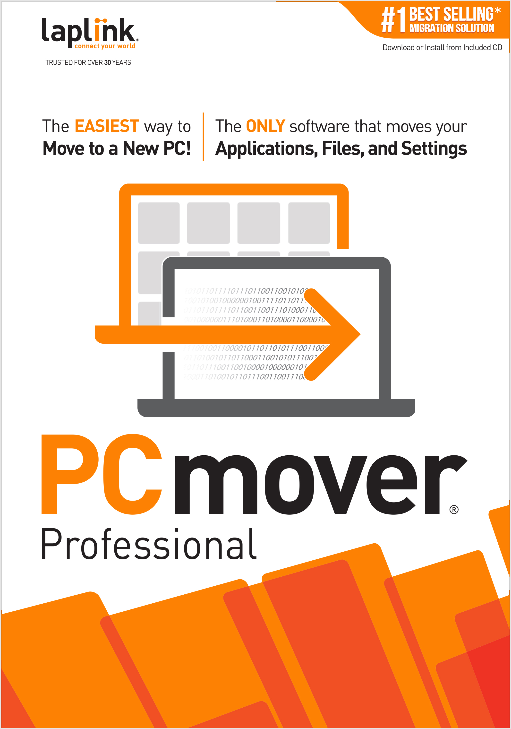 PCmover Professional 11  (2 Use) - The easiest way to move to a new PC! [Download] by Laplink Software, Inc