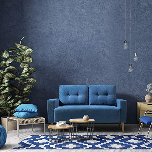 JUMMICO Modern Loveseat Sofa Fabric Couch Mid Century Love Seat - the best living room sofa for the money