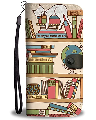 Purrrfect Books Wallet Phone Case